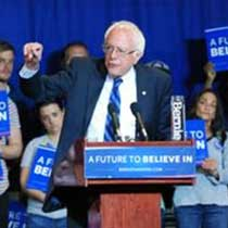 Bernie Sanders rallies the faithful in Paducah, KY. Photo by Berry Craig